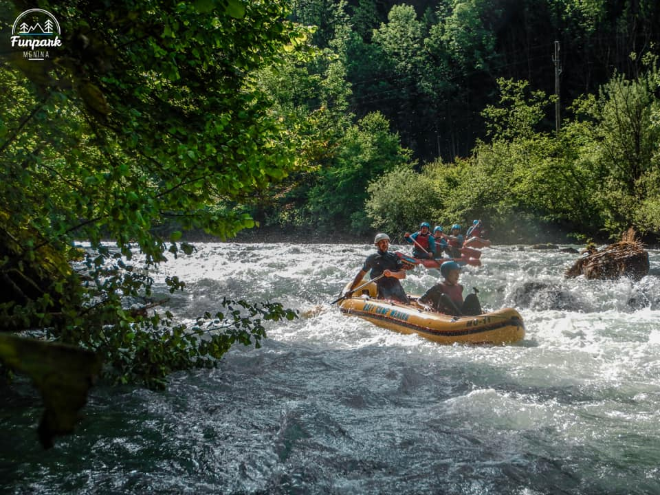 Rafting on Savinja river